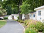 cabins along small driveway