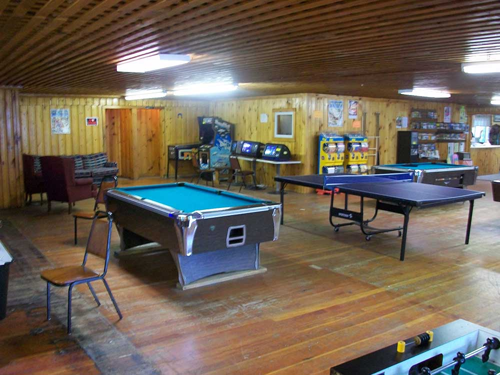 Game room with pool table and ping pong