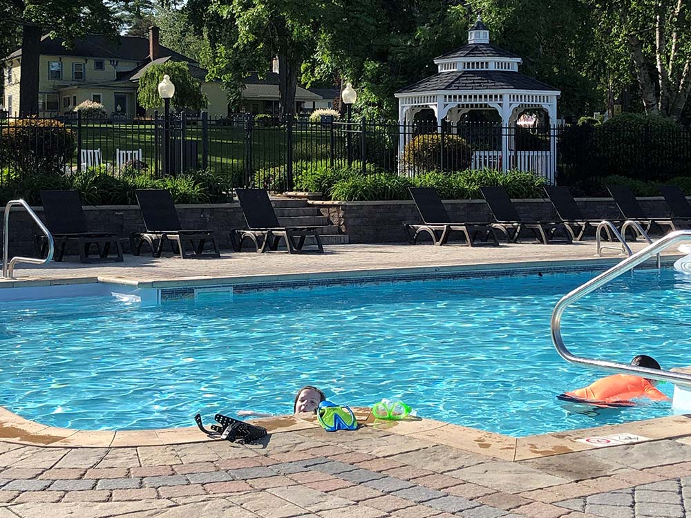 Pool with kids swimming